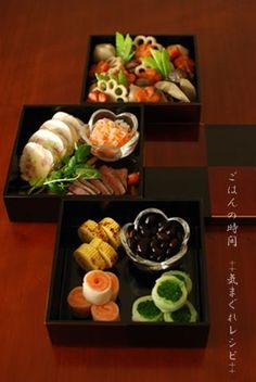 Japanese food / おせち料理 Bento, Japanese New Year, Japanese Food, Mochi, My Sushi, New Year's Food, Food Humor, Cute Food, Snack