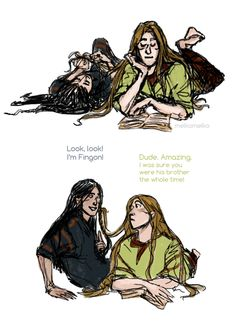 Lol Turgon and Finrod being dorks