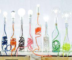 Creatief met lege flessen
