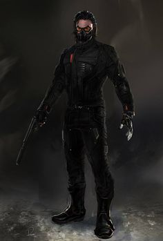 "Concept art of Bucky Barnes aka the Winter Soldier from ""Captain America: The Winter Soldier"" (2014)."