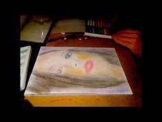 Μολύβι και soft pastel, σκίτσο