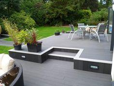 Deck and Patio Combo . Deck and Patio Combo . Deck and Patio Bo Small Backyard Decks, Modern Backyard, Backyard Patio, Backyard Landscaping, Small Patio, Modern Deck, Patio Deck Designs, Patio Design, Patio Ideas