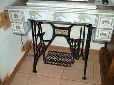 tables avec pieds de machines coudre meubles et d co recyclage pinterest tables