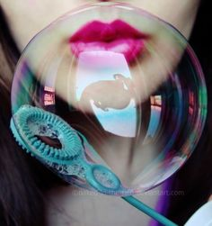 In the bubble Frozen Bubbles, Soap Bubbles, Bubble Letters, Bubble Art, Rainbow Aesthetic, Neon Aesthetic, Bubble Bath Soap, Little Peach, Eyes Lips Face