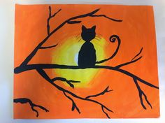 Mixing and blending colors, then using silhouettes to emphasize shape!