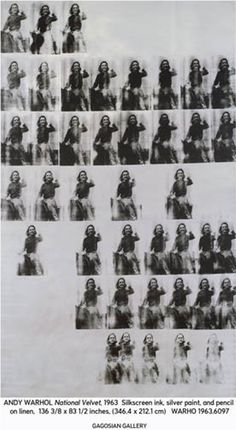 Andy Warhol National Velvet (1963), ©