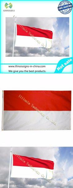 Indonesia flag Indoor Outdoor 3*5FT/90*150cm Indonesia Flag Asian Republic Banne...