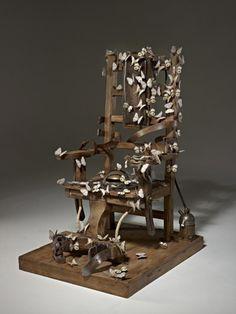 Bertozzi e Casoni, Sedia Elettrica con Farfalle (Electric Chair with Butterflies), 2010, ceramica. Courtesy Galleria Cardi.