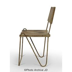 PIERRE JEANNERET. TEAK AND IRON CHAIR.