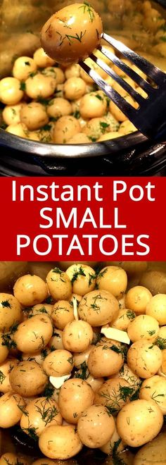 This Instant Pot small potatoes are amazing! Tender little baby potatoes, perfectly cooked in minutes! pot recipes for beginners dinner Instant Pot Small Potatoes Instant Pot Potato Recipe, Instant Potatoes, Best Instant Pot Recipe, Baby Potato Recipes, Instant Pot Veggies, Vegetarian Cooking, Easy Cooking, Healthy Cooking, Cooking Recipes