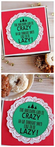 The Holiday Can Be Crazy So We Thought You'd Like To Be Lazy! | Christmas Neighbor Gift Idea