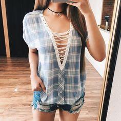 Emery Plaid Lace Top – ootdfash