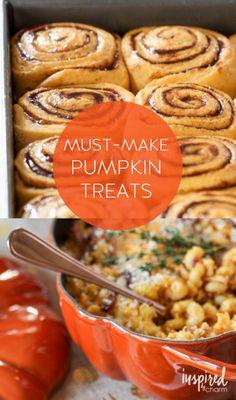 Must-Make Pumpkin Treats #pumpkin #fall #autumn