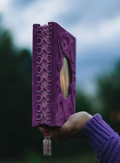 Grimoires, book of shadows, book of spells by Witchybooks Witch Aesthetic, Book Aesthetic, Purple Aesthetic, Purple Meaning, Cool Notebooks, Journals, Leather Bound Journal, Magic Book, Photo Wall Collage