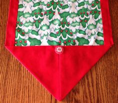 Sz M Christmas table runner in red green and by BlessingsandBabies