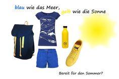 Urlaubsfeeling: Blau wie das Meer, Gelb wie die Sonne