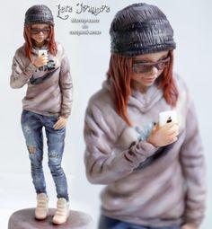 "Sugar sculpture ""Girl Of The 21st Century"" by Lera Ivanova"
