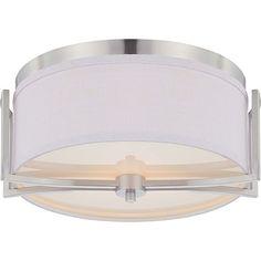 Nuvo Lighting Gemini Brushed Nickel 2-light Flush Mount Fixture