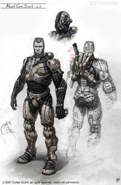 Crysis,Nano suit concept