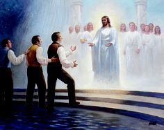 Joseph Smith's Last Dream.  This is kinda cool because I feel it represents life in general where we all have to learn to walk on water to get where we want to go.
