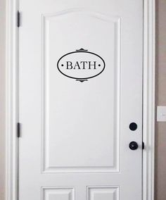 Bathroom Room Home Decor Vinyl Lettering Wall Decals Label Door Art Words Text Sticker Decal 1615 Baño