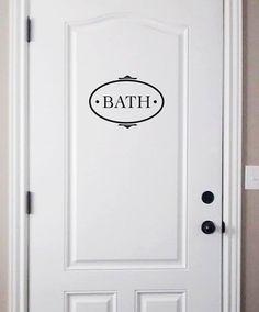 $9.99 bath decal door decal bath vinyl decal by dadavinylsanddesigns