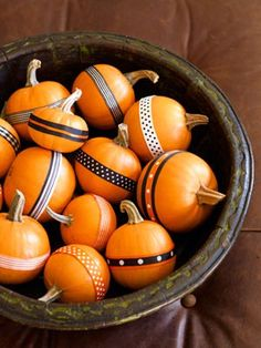 Pumpkin decorating ideas..okay so i have a bucket full of pumpkins with ribbon and thennn what do i do with them?