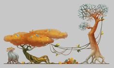 Plants, Lena Novikova on ArtStation at https://www.artstation.com/artwork/x2ObE