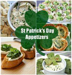 Delicious selection of St Patrick's day appetizers. Each morsel will satisfy the taste buds, look amazing and have your guests begging for more. This is the perfect party food selection. Irish Appetizers, St Patrick's Day Appetizers, Appetizer Recipes, St Patrick Day Snacks, St Patricks Day Food, Tapas, Catering, Food Porn, Irish Recipes