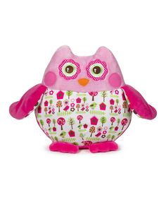 Look at this GANZ Pink Birdhouse Owl Plush Toy on #zulily today!