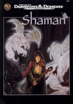 Shaman (2e) | Book cover and interior art for Advanced Dungeons and Dragons 2.0 - Advanced Dungeons & Dragons, D&D, DND, AD&D, ADND, 2nd Edition, 2nd Ed., 2.0, 2E, OSRIC, OSR, d20, fantasy, Roleplaying Game, Role Playing Game, RPG, Wizards of the Coast, WotC, TSR Inc. | Create your own roleplaying game books w/ RPG Bard: www.rpgbard.com | Not Trusty Sword art: click artwork for source