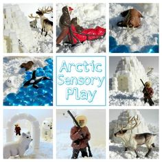 Arctic Sensory Play -- great ideas for the weekend.