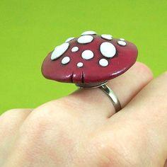 Mushroom Ring Purple