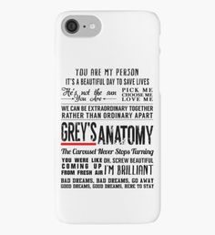 All in one Grey's Anatomy Quotes iPhone-Hülle/Skin