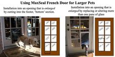 French doors with a dog door   MaxSeal High Performance Pet Doors for French Doors