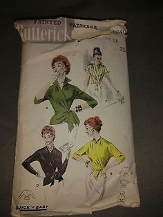 Vintage Original Butterick Blouse Pattern No. Wrap Blouse, The Originals, Pattern, Ebay, Vintage, Patterns, Vintage Comics, Model, Swatch