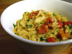 Codfish Risotto with Coconut Milk, Sun-Dried Tomatoes, Onion and Parsley (dairy-free, gluten-free, soy-free, nut-free)