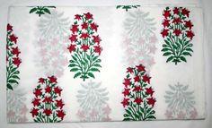 10 yard Indian Hand Block Printed Natural Handmade Cotton Sanganeri Print Cloth  #Handmade