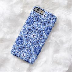 Elegant Antique Dutch Delft Blue Floral Pattern Barely There iPhone 6 Case
