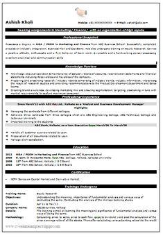 Mba admissions resume