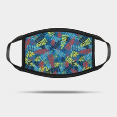 Masks by Sandra Hutter Designs | TeePublic Blue Face Mask, Face Masks For Kids, Abstract Nature, Nature Prints, Scandinavian Style, Blue Backgrounds, Blue Yellow, Sunglasses Case, Silhouettes