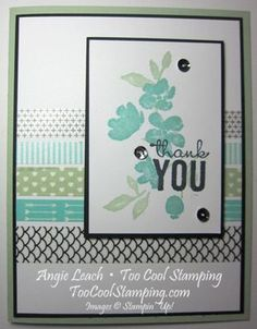Do this card in a winter version using the 5 coordinating rolls of washi tape instead from the SU All is Calm washi set and use a different stamp set.  Washi in clearance rack currently.  Amazing painted petals and washi.