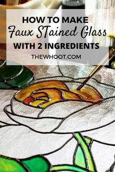 Faux Stained Glass, Making Stained Glass, Stained Glass Projects, Stained Glass Patterns, Diy Projects To Try, Crafts To Make, Home Crafts, Fun Crafts, Craft Projects