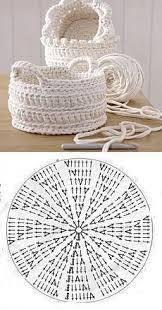 Handmade: Crochet baskets - 37 designs and . - DIY Handmade: Crochet baskets - 37 designs and . -DIY Handmade: Crochet baskets - 37 designs and . - DIY Handmade: Crochet baskets - 37 designs and . Crochet Diy, Crochet Bag Tutorials, Crochet Bowl, Crochet Basket Pattern, Crochet For Beginners, Crochet Crafts, Crochet Doilies, Crochet Projects, Crochet Baskets