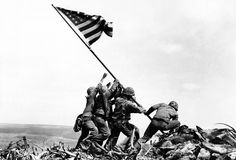 This day in 1945 one of the most famous photograph of WWII was taken, Raising the Flag on Iwo Jima.