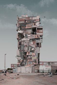 "Justin Plunkett's ""Con/struct"" Series Imagines Future of Urban Sprawl | Hi-Fructose Magazine"