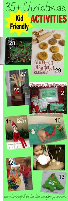 LOVE IT!!  35+ Christmas Activities for kids of all ages! This is a round-up from all my favorite AMAZING kid bloggers!