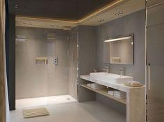 Une salle de bains effet béton ciré comme un spa