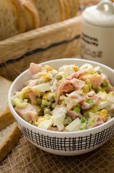 Mirabelkowy blog: Sałatka z wędzonym kurczakiem i jajkami Pasta Salad, Potato Salad, Salads, Potatoes, Ethnic Recipes, Food, Crab Pasta Salad, Potato, Essen