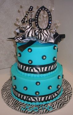 Google Image Result for http://pictures-of-birthday-cakes.com/wp-content/uploads/2012/05/teal-40th-birthday-cakes.jpg